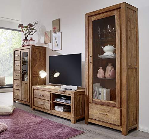 Main Möbel Wohnwand Austin Sheesham massiv
