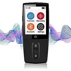 Bestrans Traductor de Voz Inteligente, Smart Languages Translator Wifi, Traducción Precisa de Idiomas en 43 Idiomas, Portátil, Adecuado para Viajes, Compras y Aprendizaje - Negro