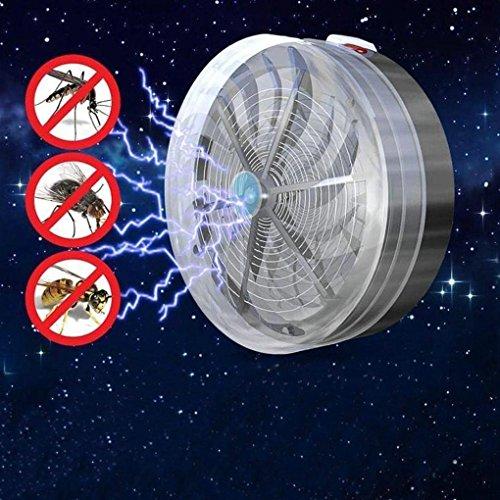Babysbreath17 Solar Powered Buzz UV-Licht-Insekt-Wanzen-Moskito-Kill-Zapper drahtloser elektrischer Fall MoskitoRepeller Mörder (Fliegen Weg)