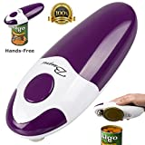 from BangRui BangRui Smooth Soft Edge Electric Can Opener with One-Button Start and One-Button Manual Stop (Purple)