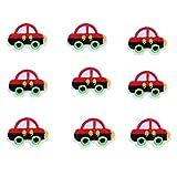 VALYRIA Flicken Aufnäher Applikation Aufbügelbilder Rot Wagen 10Stücke
