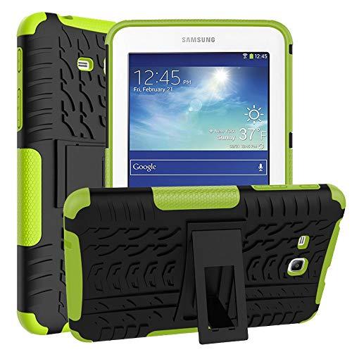 Asstar Schutzhülle für Samsung Galaxy Tab E Lite 7.0 SM-T113 und Tab 3 Lite T110 / T111 Schwarz/Grün -