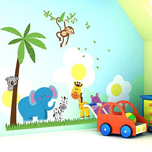 ufengker-alberi-di-noce-di-cocco-elefante-giraffa-adesivi-muralicamera-dei-bambini-vivai-adesivi-da-