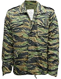 M65 Military Field Jacket With Removable Quilted Inner Liner- Tiger Stripe Camouflage