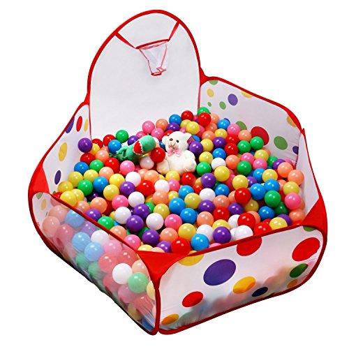 Box sfera Pit, Focusun sveglio portatile Hexagon Pois bambini Box sfera Pit Indoor e Outdoor facile piegante del gioco della Casa dei Bambini di Sesso Tenda con Tote Bag per i regali per bambini