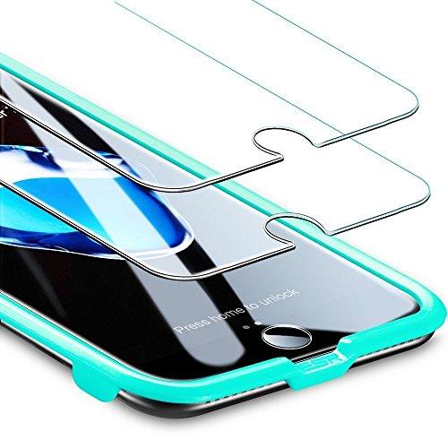 ESR iPhone 8/7 Panzerglas Schutzfolie (2 Stück), iPhone 8 7 6 6S Panzerglas Schutzfolie, 0.3mm 9H Schutzfolie mit Installation Werkzeug Displayschutz Panzerglasfolie für iPhone 8/7/6/6S (4,7 Zoll)