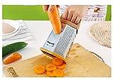 Trada Gemüseschneider, Küchenwaren Edelstahl Sechs Seiten Reibe Multifunktional Reißwolf 8 - Zoll - sechsseitige Planiermaschine Multi - Schnell Functional Vegetable VeggieChopper (Silber)