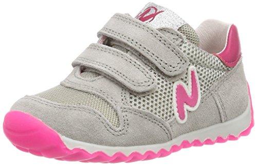 Naturino Mädchen Sammy. Hohe Sneaker, Mehrfarbig (Grigio-Fuxia Fluo'), 27 EU