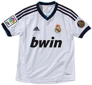 adidas Boy's Replica Football Jersey Real Madrid Home weiß/schwarz Size:176