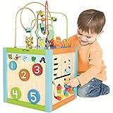 Cube d'activités bois 5 en 1