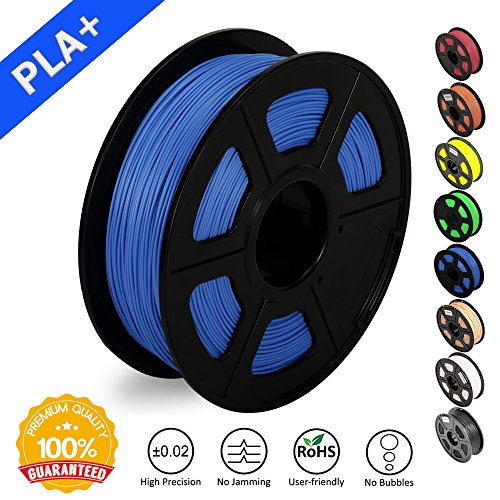 3D Printer Filament PLA Plus Blue(more like sky),PLA Plus Filament 1.75 mm SUNLU,Low Odor Dimensional Accuracy +/- 0.02 mm 3D Printing Filament,2.2 LBS (1KG) Spool 3D Printer Filament for 3D Printers & 3D Pens,Blue(more like sky)