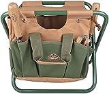 Esschert Design GT01 41 X 31 X 30cm Metal/ Textile Garden Stool   Green