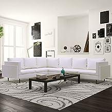 Amazon.it: divano pelle angolare - Bianco