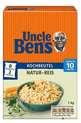 Uncle Ben\'s Natur Reis, 10 Minuten Kochbeutel, 3 Packungen (3 x 1000g)
