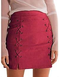 Sexyville Femmes Bandage Daim Tissu Mini-Jupe Slim Seamless Stretch Stretch  Jupe Courte 2c5887d83272