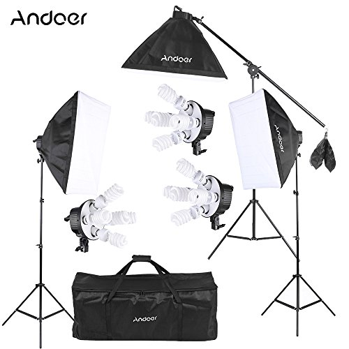 Andoer Kit Fotografíco Estudio Video Softbox 15 *