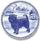Lekven Affenpinscher Design Hund Teller 19,5cm/19,3cm Made in Dänemark Neu mit Zertifikat of Origin Teller # Cluster 7375