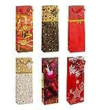 TSI 83289 Geschenkbeutel Weihnachten Serie 9, 12er Packung, Größe: Flasche groß (36 x 12 x 8 cm)