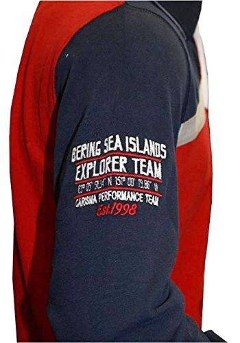 Brandneu !!! Designer Polo-Shirt von CARISMA in 2 Farbkombis CRM3068 mit Stickerei rot / navy