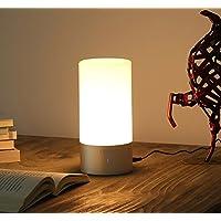 Lámpara de Mesa Recargable, Lixada lampara Mesita Noche, con Luz Blanca Cálida Regulable y RGB 256 Color-Cambiante, Control Táctil de 360 grados para Habitaciones, Lampara de Mesa Tactil