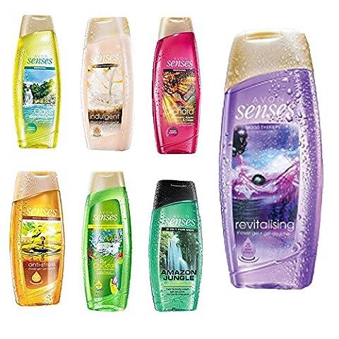 Avon Senses Sparpaket Duschgels 7 Stück XXL 500 ml Mix