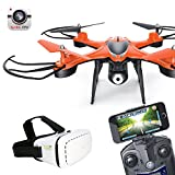Cewaal 6-Axis HD WiFi Camera FPV Live Transmission with VR Glasses 2.4Ghz 4CH RC Drone Orange