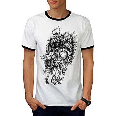 Vieux guerrier Cheval sport Homme L T-shirt à sonnerie | Wellcoda