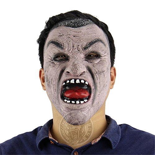 SQCOOL Halloween Maske Black Face Mann Lustige Ghost Room Chamber Escape Dress Up Lustige Live Performance Latex Maske (Machen Sie Einen Hund Ghost Kostüm)