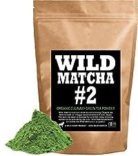Organic Matcha Green Tea Powder, Wild Matcha #2 Culinary Grade, Authentic Japanese Matcha Grown In The Mountains of Kyoto, Japan, JAS Certified Organic (4 ounce)