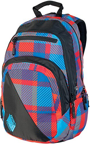 Nitro Snowboards Rucksack Stash, plaid red/blue, 49 x 32 x 22 cm, 29 Litre, 878011 (Plaid-damen-laptop-tasche)