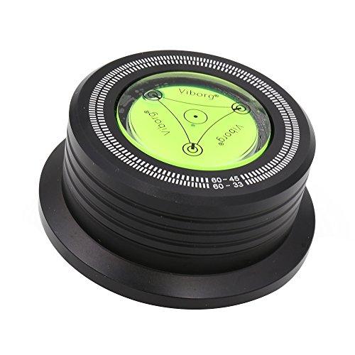 Viborg Audio®60HZ 628B Black 3 In 1 Plattenklemme LP Disc Stabilizer Drehscheibe für Vibrationen ausgeglichen Schallplattenauflagegewicht