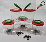 Becherlupe Lupenbecher Lupendose Maxi 20 Stück mit Handlupe gratis 150006-20-L