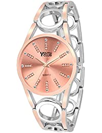 Youth Club K-03CPTT New Casual Rose Gold Dial Girl & Women Watch Bracelet For Girls