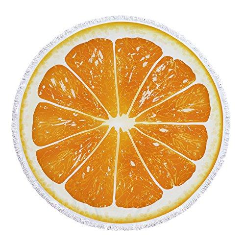 Gedruckte runde Frucht Drachenfrucht multifunktionale Strandtuch Schal Kissen -03 150 * 150cm -