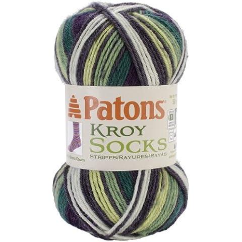 Spinrite Kroy Socks Yarn Bramble Stripes by Patons