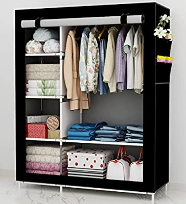 UDEAR Portable Wardrobe Free Standing Clothes Storage Organizer - cheap UK light store.
