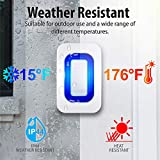 Fosmon WaveLink Wireless Motion Sensor Detect Alert Alarm Chime, Security Doorbell for Home Garage Shop Store (Operating Range 150M/500FT | 52 Chime Tunes) - 1 Motion Detector, 1 Plugin Receiver
