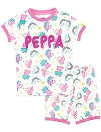 Peppa Pig Pijamas de Manga Corta para niñas Unicornio