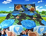 Riyasat- 5D Floral Design Printed Double Bed Sheet Set (230x250 cm) Glace Cotton Fabric best price on Amazon @ Rs. 699