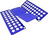 normani 2 x Wäschefalter z.B. für T-Shirt Hemden/Faltbrett/Falthilfe/Wäschefaltbrett - Haushaltshilfe - sehr stabil Farbe Blau