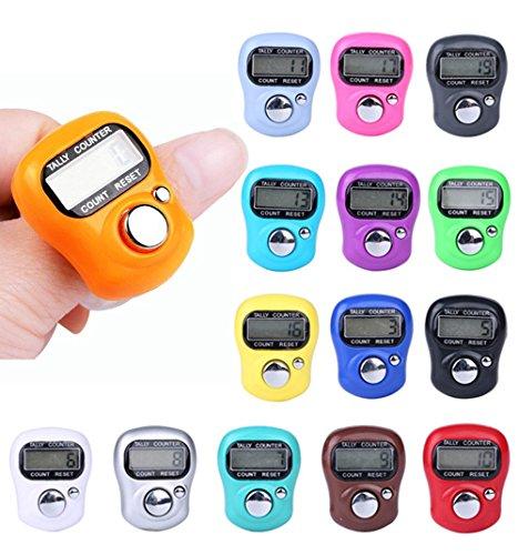 TianranRT Digit Digital LCD Elektronisch Finger Hand Ring Stricken Reihe Zähler Zähler -