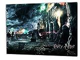 Harry Potter, Format: 60x40 Bild auf Leinwand gespannt, Leinwandbild, 1A Qualität zu 100% Made in Germany! Kein Poster Kein Plakat! Echtholzrahmen mit beigelieferten Zackenaufhängern. Fertig bespannt, Sofort dekorieren. Vier verschiedene Formate.