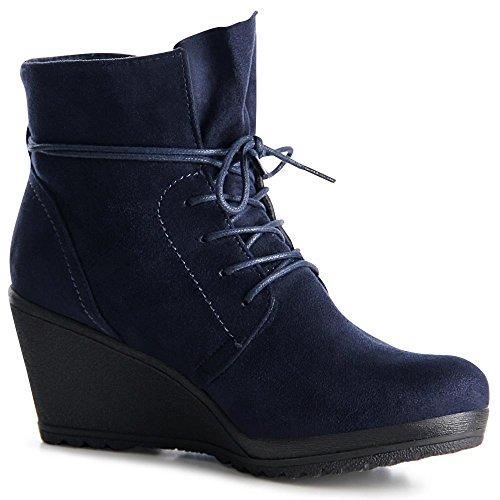 topschuhe24, Stivali donna Blau