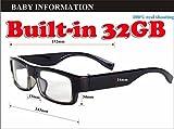 EPTEK @ Eingebaute 32GB HD 720p Mini Spion Versteckte Brille Kamera Nanny begehrte Brillen Gläser Kameras Camcorder DVR Videorecorder