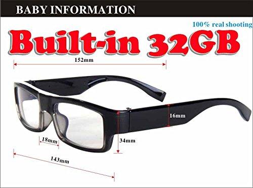 2GB HD 720p Mini Spion versteckte Brille Kamera Nanny begehrte Brillen Gläser Kameras Camcorder DVR Videorecorder (Spion-anzug)