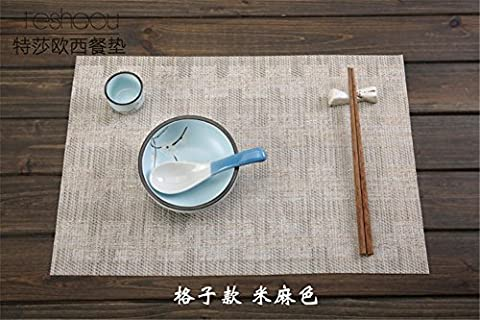 DIANZHUO Placemat 4Pcs Japanese-Style Placemat Pvc Environmental Protection Washed Insulation