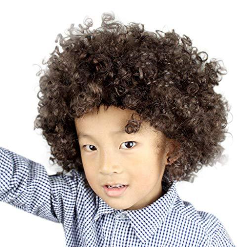 Karneval Kopfschmuck Explosion Kopf Clown verkleiden sich Fan Perücke Party Disco Lustige Afro Clown Haar Fußball Fan-Kinder Afro Maskerade Haar ()