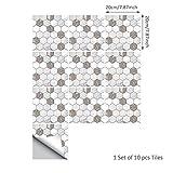 DMMASH Fliesen-Aufkleber-Ausgangsdekor-Brown-Weißer Marmorbeschaffenheits-Fliesen-Wand-Aufkleber Einfach Zu Installieren,20*20Cm