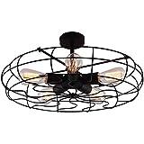 Leihongthebox LED modernas lámparas de techo ventilador techo ventilador industrial retro , para Hall, sala de estudio, oficina, Dormitorio, Salón,