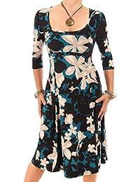 Blue Banana - Blumendruck A-Linie-Kleid